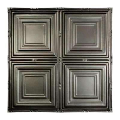Syracuse 2 ft. x 2 ft. Nail-up Tin Ceiling Tile in Argento