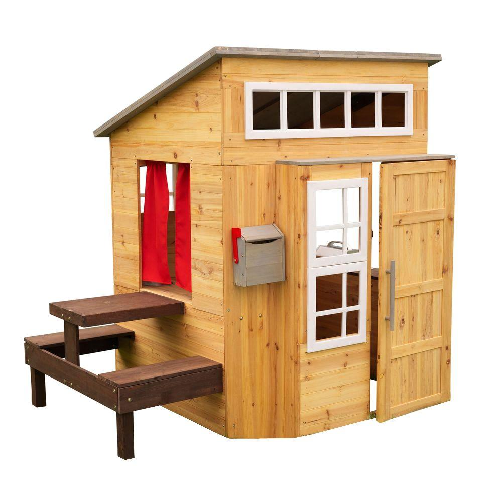 Home Depot Playhouses : Kidkraft modern outdoor playhouse the home depot