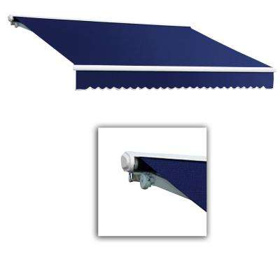 12 ft. Galveston Semi-Cassette Right Motor with Remote Retractable Awning (120 in. Projection) Navy