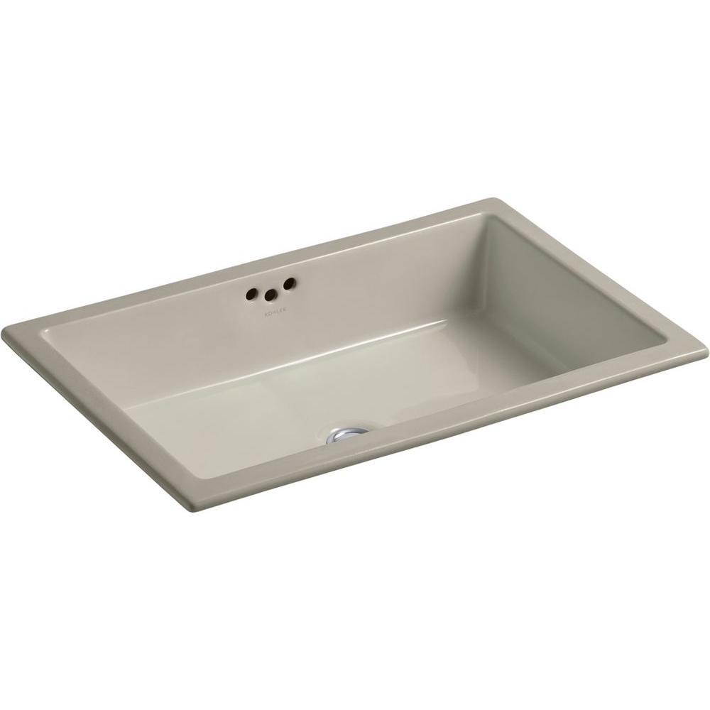 Kohler Kathryn Vitreous China Undermount Bathroom Sink In Sandbar With Overflow Drain K 2297 G9