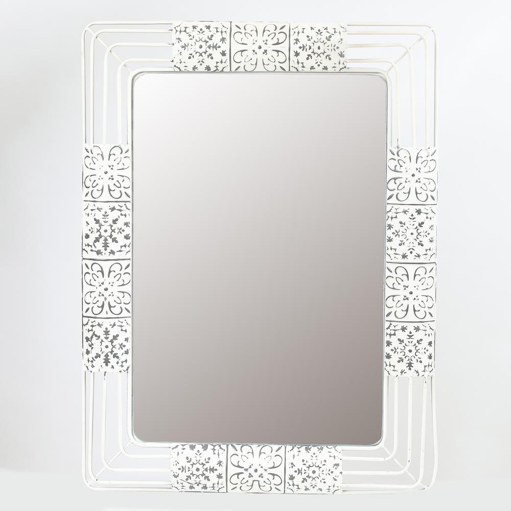 Ornate Iron Framed Wall Mirror