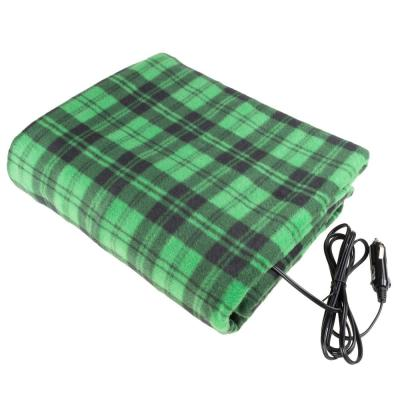 Green Polyester Throw Blanket
