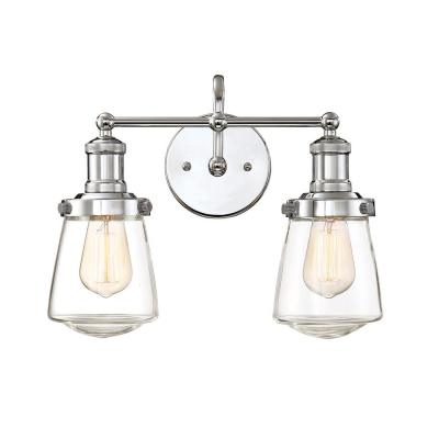 Taylor 2-Light Chrome Interior Bar Bath Light