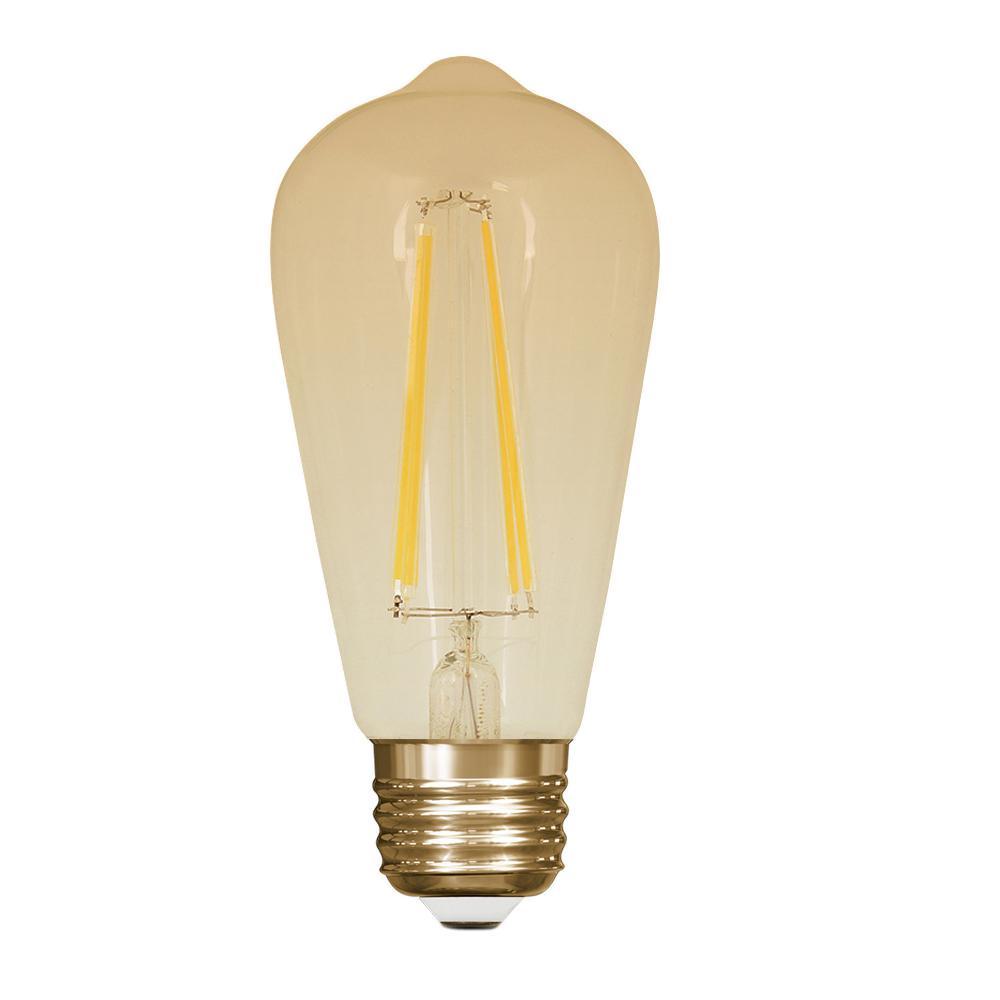 60W Equivalent Soft White (2200K) ST19 Dimmable LED Vintage Style Light Bulb