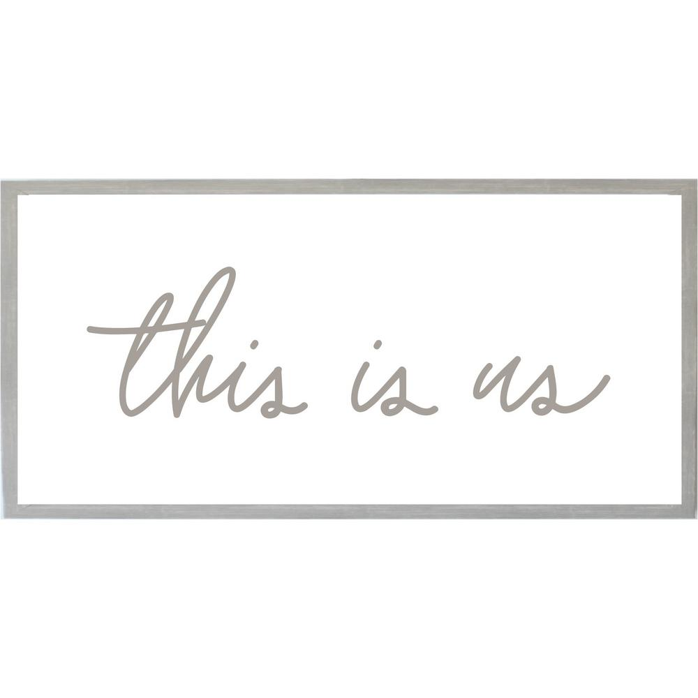 Petal Lane This Is Us Wraised Letters Magnet Board Warm Gray Frame