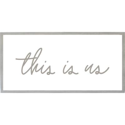 This Is Us with Raised Letters Magnet Board, Warm Gray Frame, Magnetic Memo Board