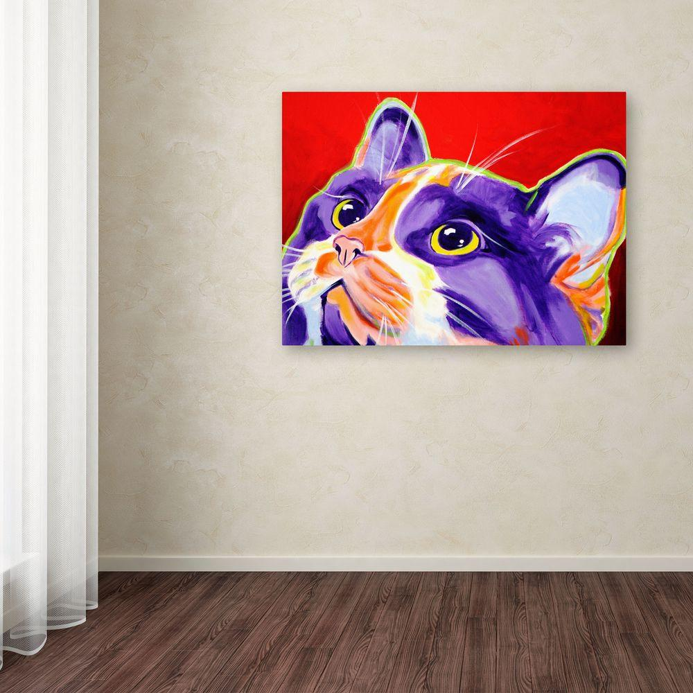 """35 in. x 47 in. """"Cat Issa"""" by DawgArt Printed Canvas"""