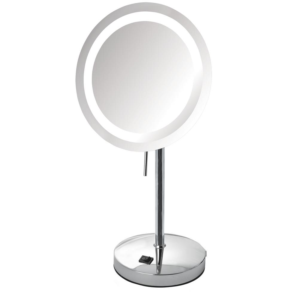 8.5 in. x 17 in. LED Lighted Table Mirror