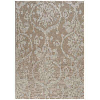 Udorn Sunburst Tan 5 ft. 3 in. x 7 ft. 6 in. Area Rug