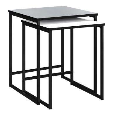 Kirkwood 2-Piece Gray and White Nesting End Table