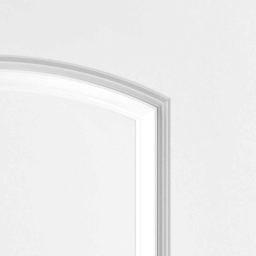 Masonite 30 In X 80 In Roman Smooth 2 Panel Round Top Hollow Core Primed Composite Interior Door Slab