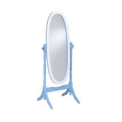 Cheval Oval Blue Standing Mirror