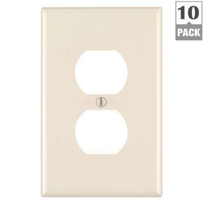1-Gang Midway Duplex Outlet Nylon Wall Plate, Light Almond (10-Pack)