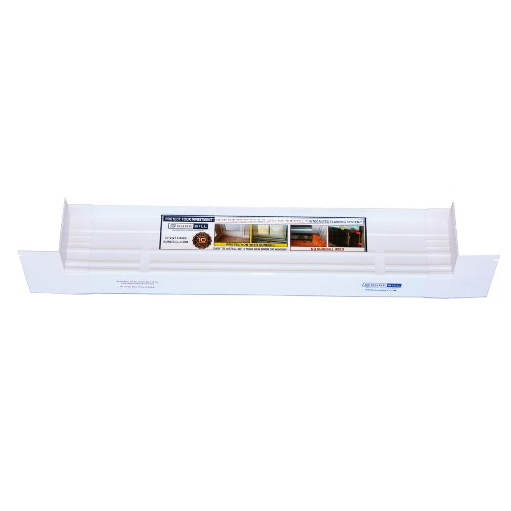 SureSill 3-1/4 in. x 78 in. Sloped Sill Pan for use on Vinyl Sliding Door and Window Installation and Flashing
