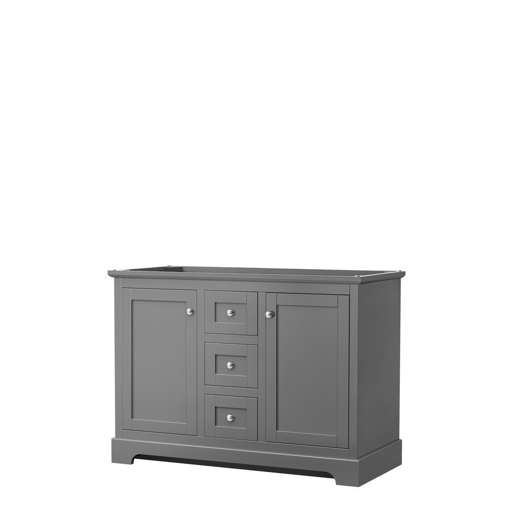 Avery 47.25 in. W x 21.75 in. D Vanity Cabinet Only in Dark Gray