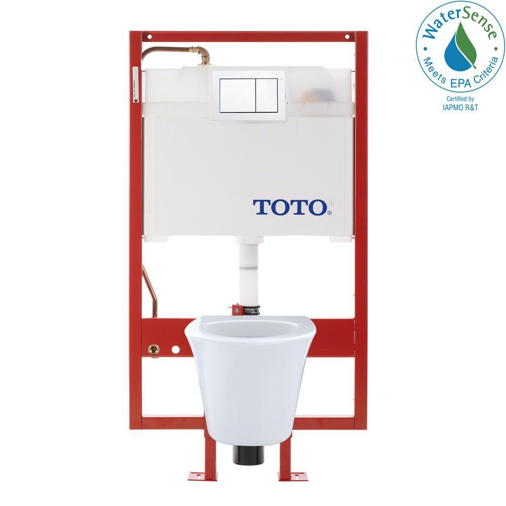 Maris DUOFIT 2-Piece 1.6; 0.9 GPF Dual Flush Elongated Wall Mounted Toilet in Cotton White