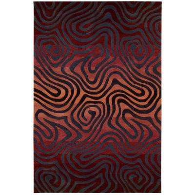 Contour Sangria 5 ft. x 7 ft. 6 in. Area Rug