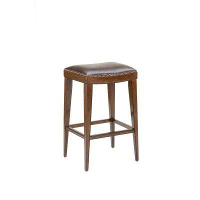 Riverton 31 in. Rustic Cherry Cushioned Bar Stool