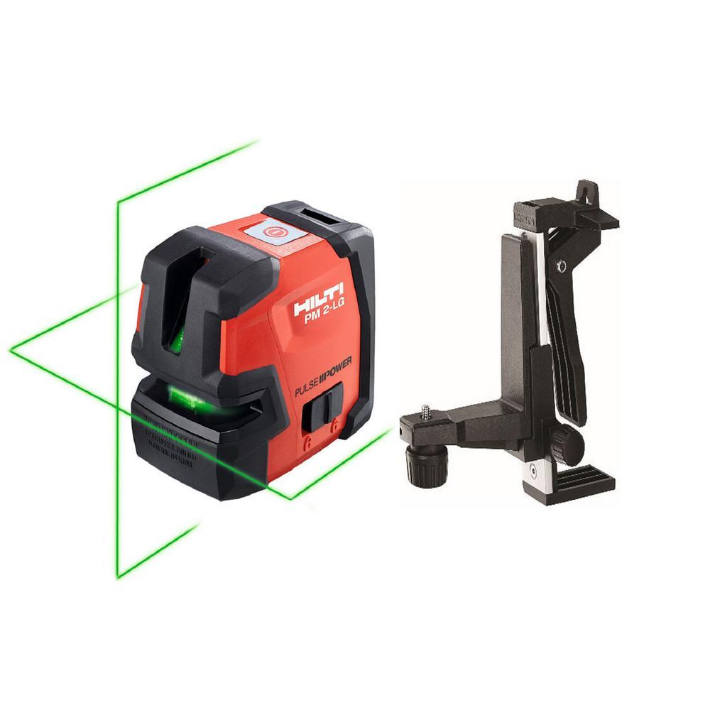 Hilti PM 2-LG Green Line Laser with PMA 82 Magnetic Bracket