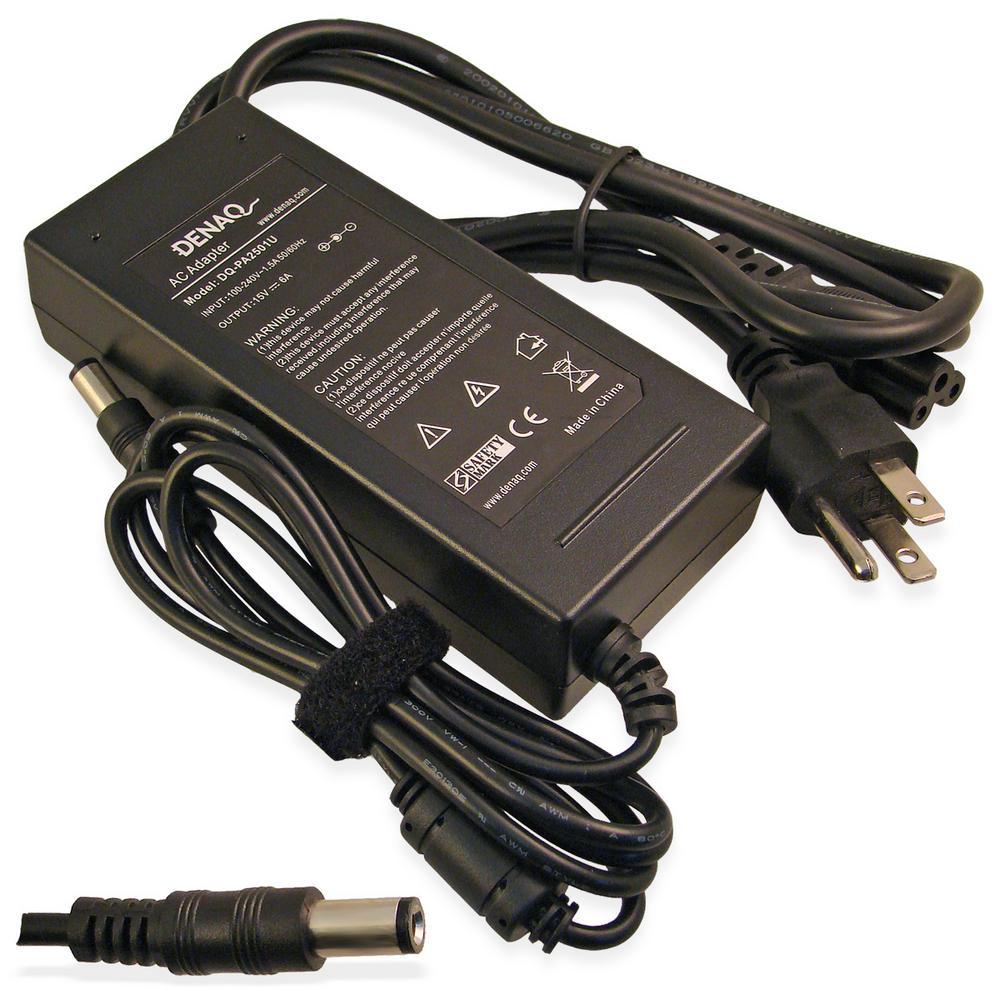 15-Volt 6 Amp 6.0 mm-3.0 mm AC Adapter for TOSHIBA Tecra, Satellite, Satellite Pro and Portege Series Laptops