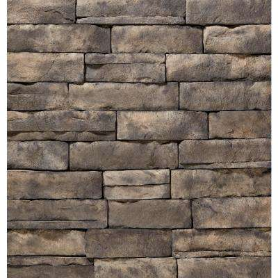 12 in. x 4 in. Manufactured Stone Ledgestone Ash Flat Siding (5 sq. ft. Pack)