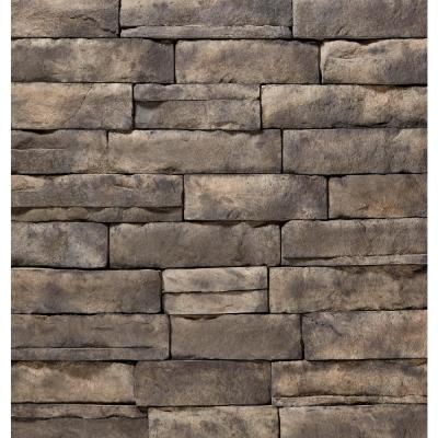 ClipStone 9 in. x 4 in. Manufactured Stone Ledgestone Ash Corner Siding (4 ft. Pack), Ash / Smoke