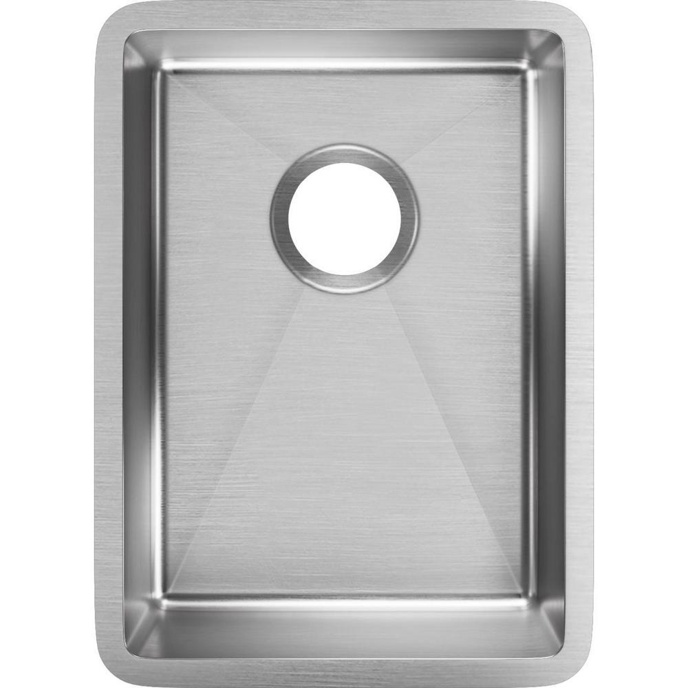 Crosstown Undermount Stainless Steel 14 in. Single Bowl Bar Sink