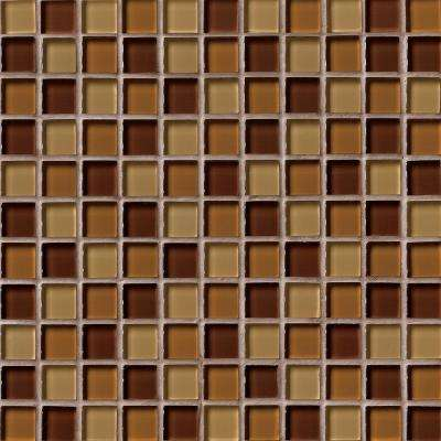 Brown Blend 12 in. x 12 in. x 8mm Glass Mesh-Mounted Mosaic Tile (10 sq. ft./case)