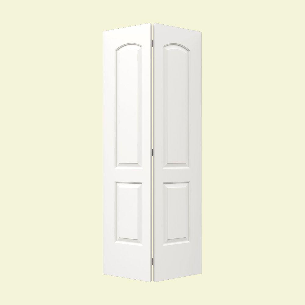 JELD-WEN 32 in. x 80 in. Continental White Painted Smooth Molded ...