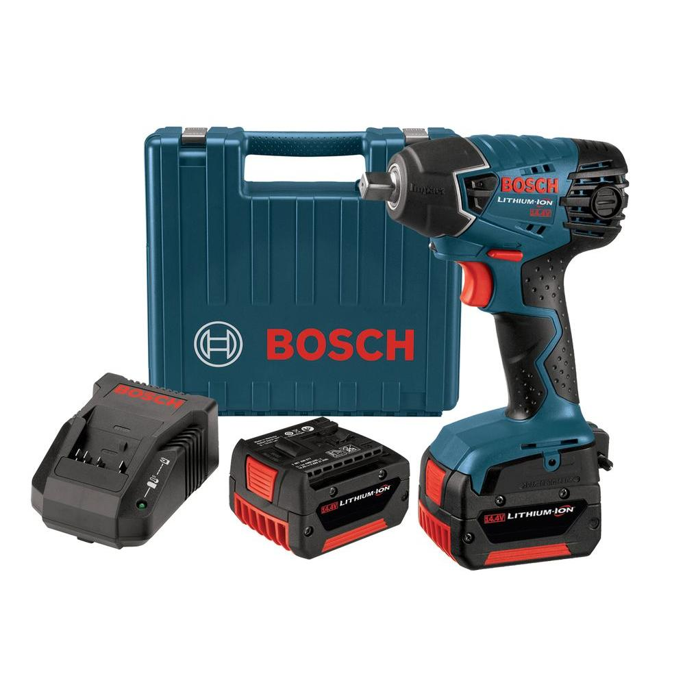 Bosch 14.4-Volt Lithium-Ion 1/2 in. Cordless Impact Wrench Kit