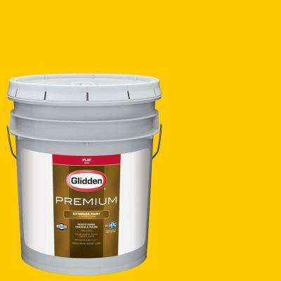 5 gal. #NHL-007D Chicago Blackhawks Yellow Flat Exterior Paint