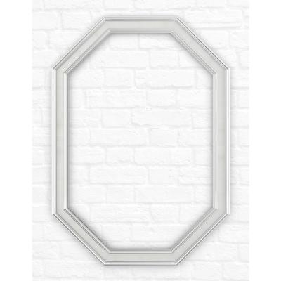 33 in. x 46 in. (L3) Octagonal Mirror Frame in Chrome and Linen