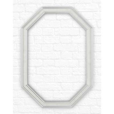 33 in. x 46 in. (L3) Octagonal Mirror Frame in Classic Chrome