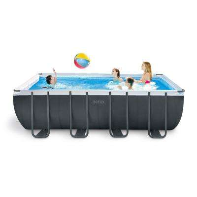 Intex Ultra 18 ft. x 9 ft. x 52 in. XTR Rectangular Frame Swimming Pool Set with Pump Filter