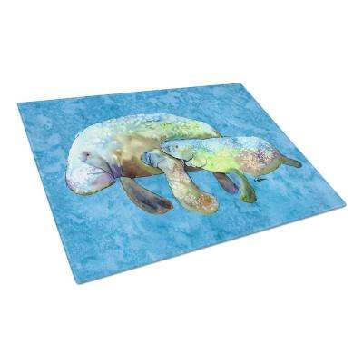 Manatee Tempered Glass Large Cutting Board