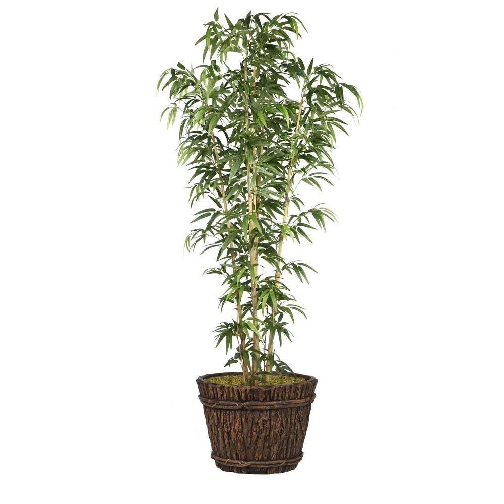 Laura Ashley 80 in. Bamboo Tree in Natural Poles in Plant...