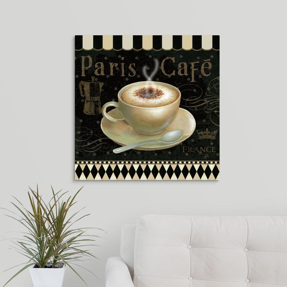 Greatcanvas Cafe Parisien Iii By Daphne Brissonnet Canvas Wall Art