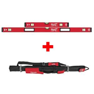 Milwaukee 24 in./48 inch REDSTICK Magnetic Box Level Set with 48 inch Soft Level Tool Bag by Milwaukee