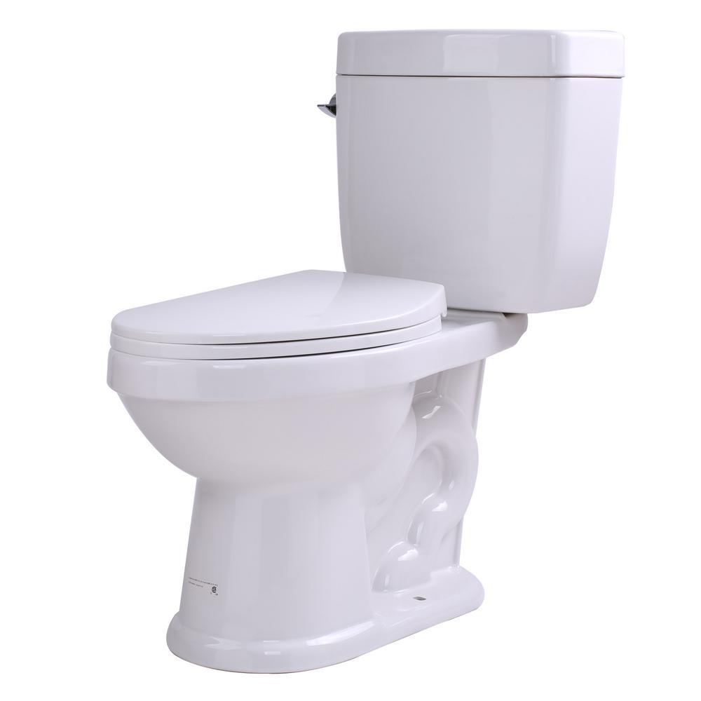 Talos 2-Piece 1.6 GPF Single Flush Elongated Toilet in White