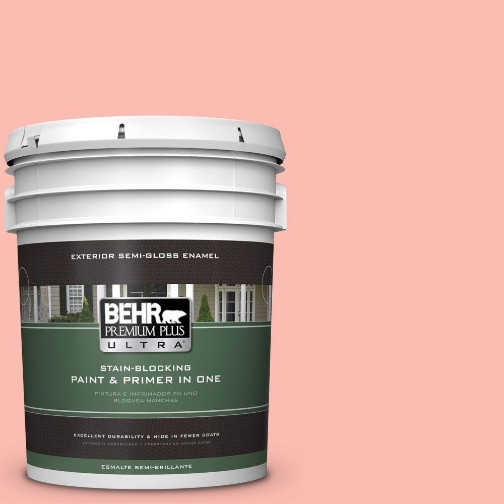BEHR Premium Plus Ultra 5-gal. #190C-3 Sweet Nectar Semi-Gloss Enamel Exterior Paint