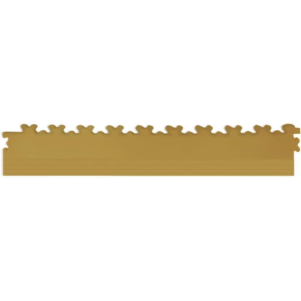 IT-tile 20-1/2 in. x 2-1/2 in. Diamond Plate Beige PVC Tapered Interlocking Multi-Purpose Flooring Tile Edges (4-Pack)