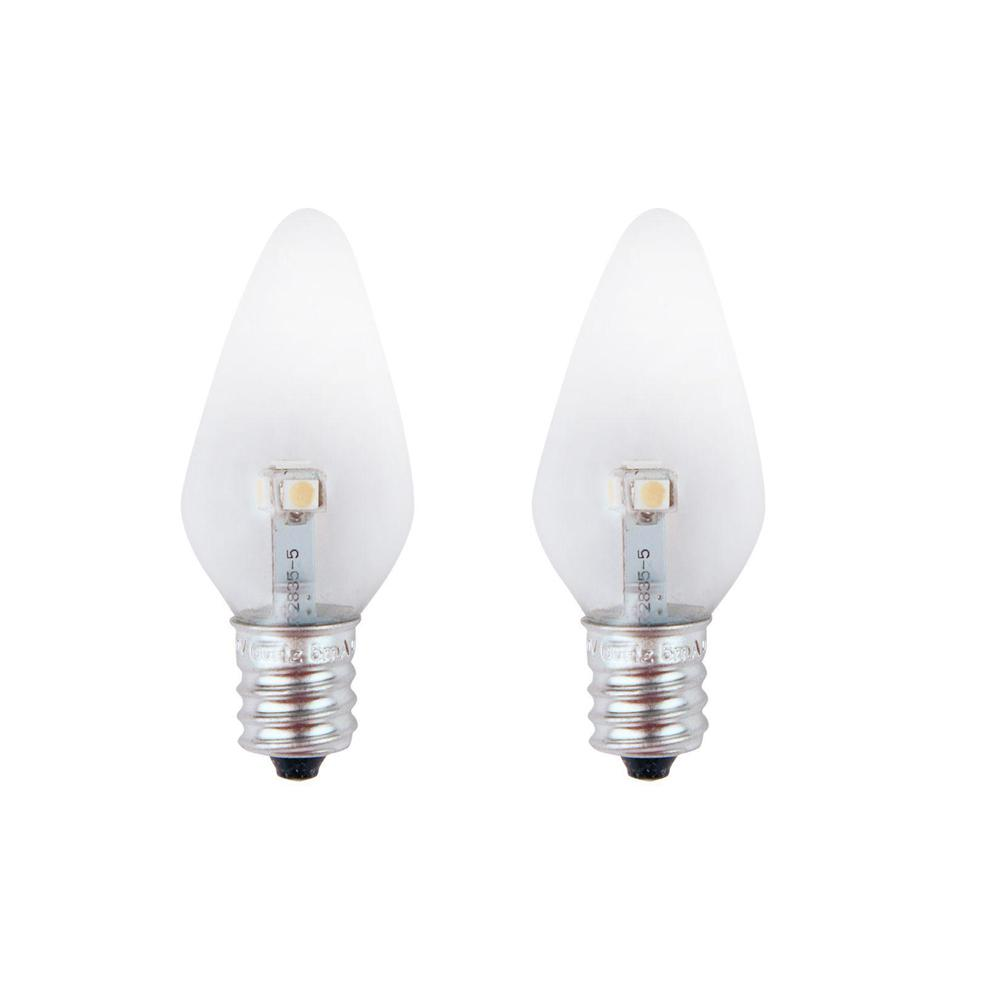 7W Equivalent Super Blue Clear-C7 Non-Dimmable LED Replacement Light Bulb