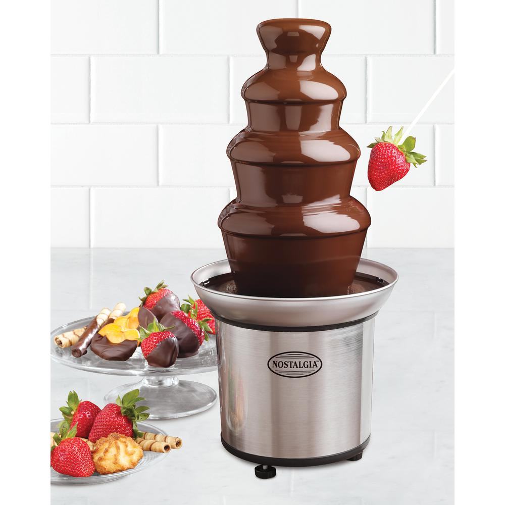nostalgia 3 lb 4 tier chocolate fondue fountain cff 986 the home depot. Black Bedroom Furniture Sets. Home Design Ideas