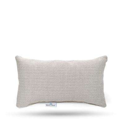 Sunbrella Hybrid Smoke Rectangular Lumbar Outdoor Throw Pillow (2-Pack)