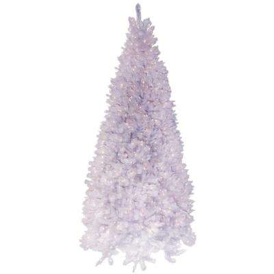 9 ft. Pre-Lit Deluxe Winter White Fir Artificial Christmas Tree with Clear Lights