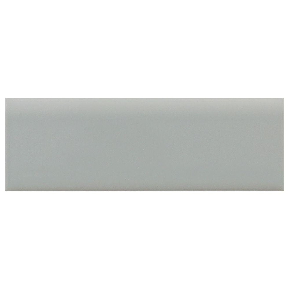 Semi-Gloss Desert Gray 2 in. x 6 in. Ceramic Surface Bullnose