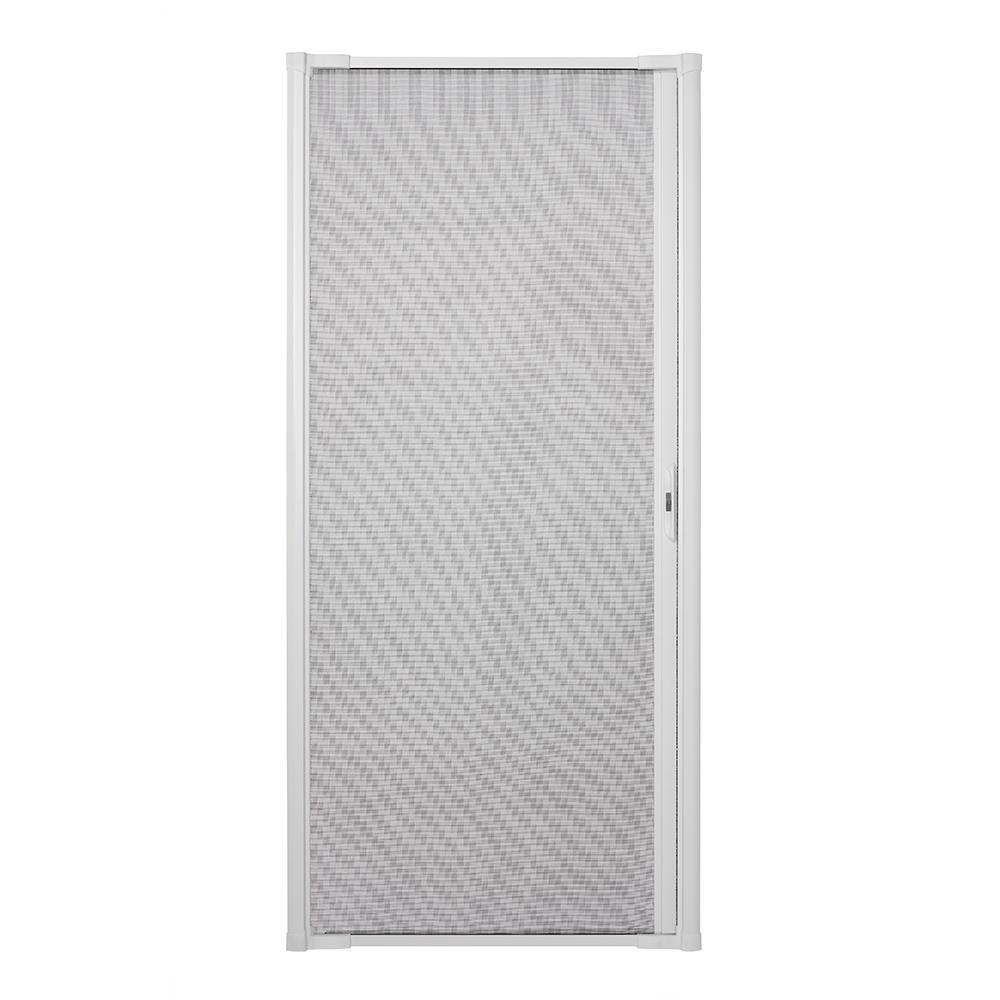 36 in. x 80 in. LuminAire White Retractable Screen Door