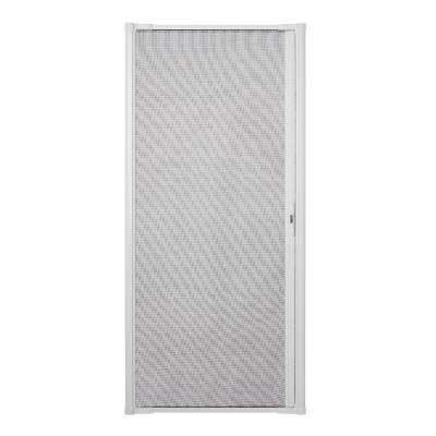36 in  x 80 in  LuminAire White Retractable Screen Door