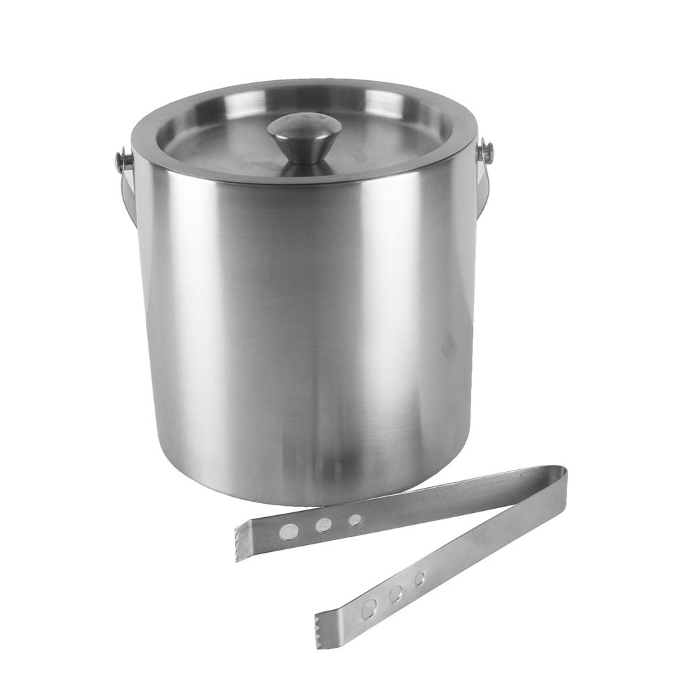 stainless steel ice bucket. Barcraft Stainless Steel Ice Bucket With Tongs K