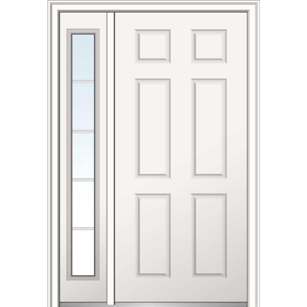 MMI Door 50 in. x 80 in. 6-Panel Right-Hand 6-Panel Primed Steel ...